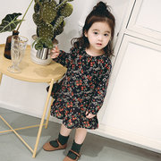 760fd3d4c Floral Printed Girls Long Sleeve Dresses For 6-36M On Sale - NewChic