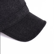 6bbe701af2a1f Mens Woolen Thicken With Ear Flaps Baseball Hats Adjustable Outdoor  Windproof Warm Snapback Caps