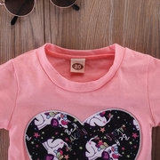 d90b979d87 2Pcs Animal Print Toddler Girls Clothing Sets Short Sleeve Tops + Pants For  1Y-5Y